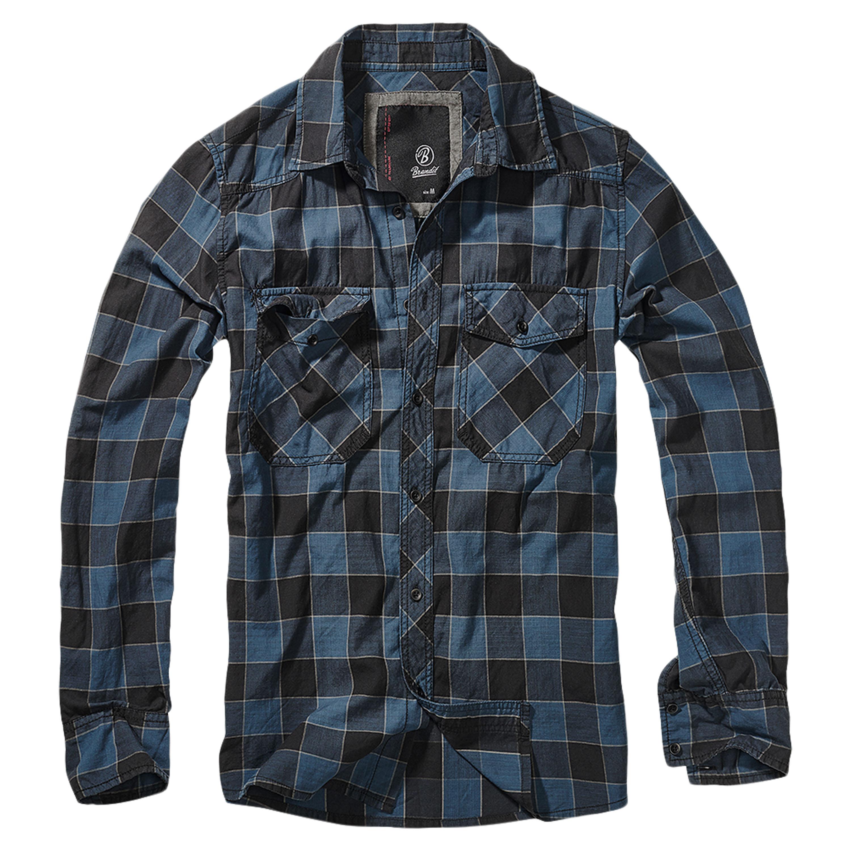 Brandit Checkshirt schwarz-blau