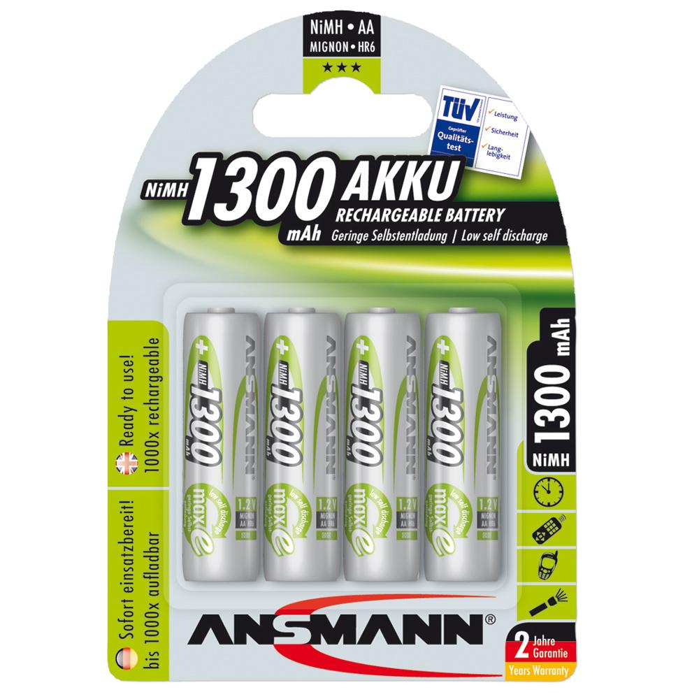 Akku Ansmann NiMH Mignon AA Green-Line 4er-Pack