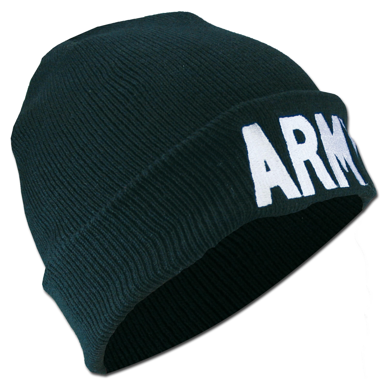 Rollmütze ARMY schwarz