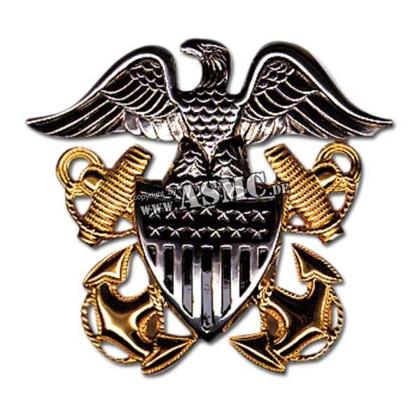 Mützenabzeichen US Navy Offizier