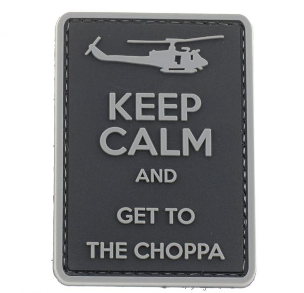 La Patcheria PVC-Patch Keep Calm and Get to the Choppa schwarz