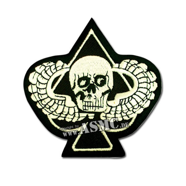 Abzeichen US Textil Skull Ace