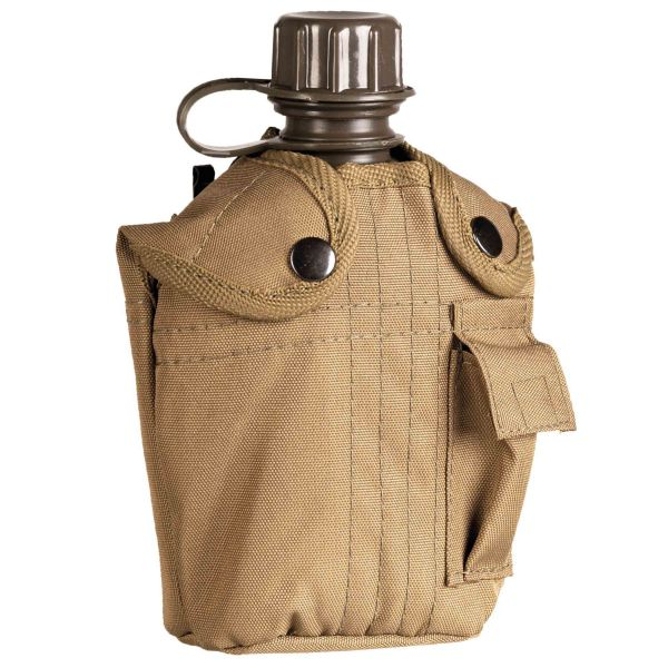 Mil-Tec Feldflasche US-Style mit Hülle coyote 1L