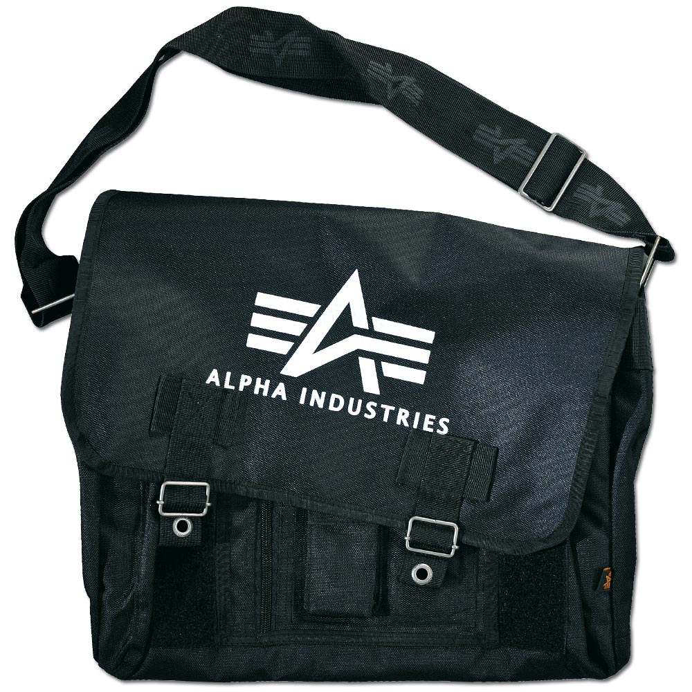 Alpha Industries Big A Oxford Courier Bag schwarz
