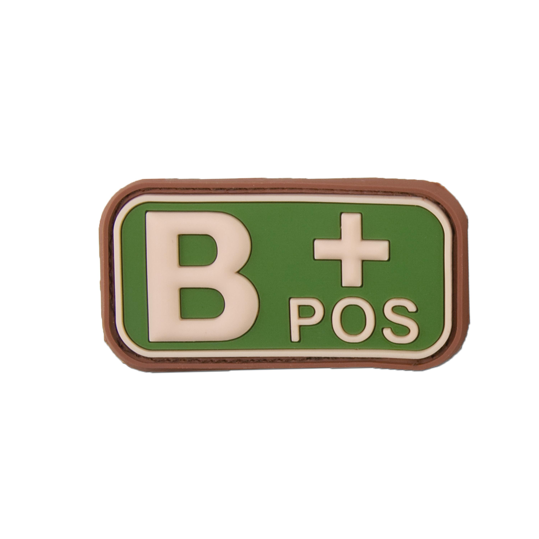3D Blutgruppenpatch B Pos multicam