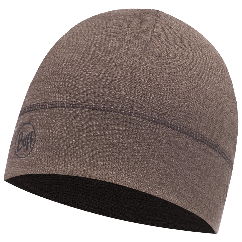 Buff Lightweight Merino Wool Hat Solid Walnut Brown