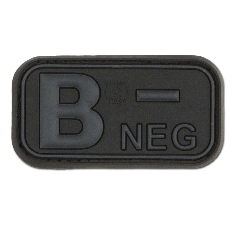 3D Blutgruppenpatch B Neg blackops