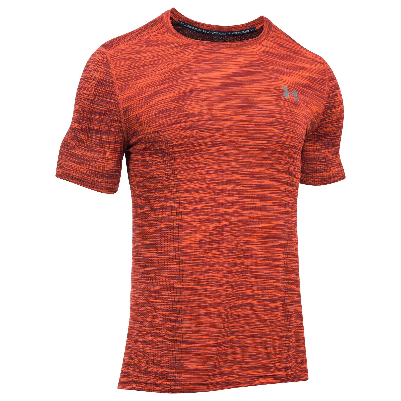 Under Armour Fitness Shirt Threadborne rot schwarz