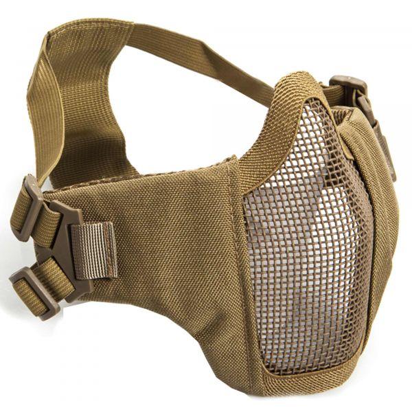 ASG Gitterschutzmaske Metall-Mesh m. Wangenpolster tan