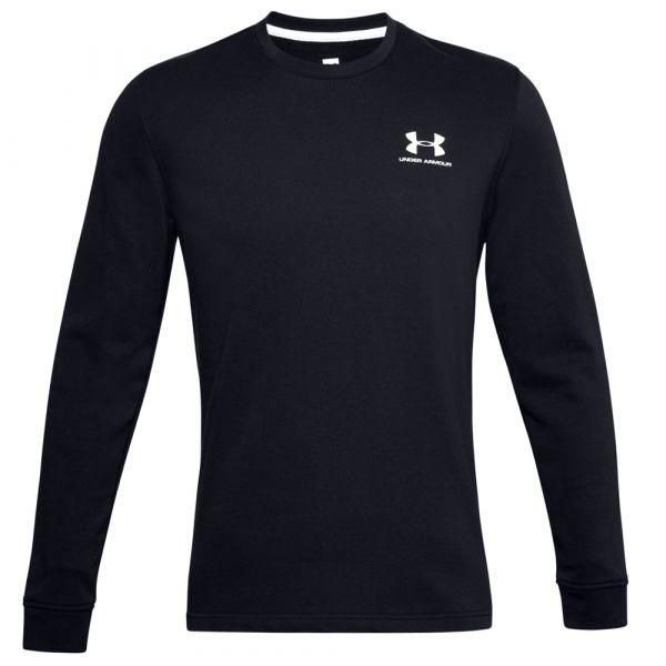 Under Armour T-Shirt Sportstyle Terry Logo Crew schwarz