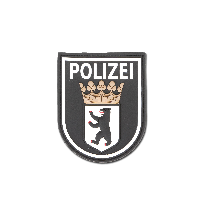 3D-Patch Polizei Berlin schwarz