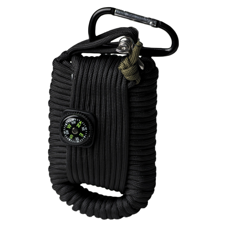 Paracord Survival Kit groß schwarz