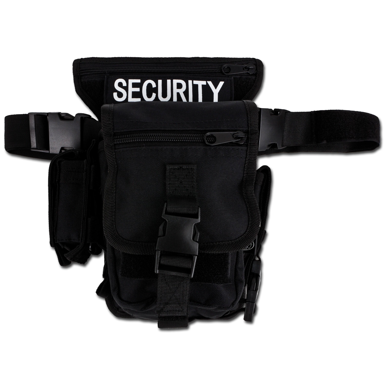 Hüfttasche mit Bein- und Gürtelbefestigung SECURITY schwarz