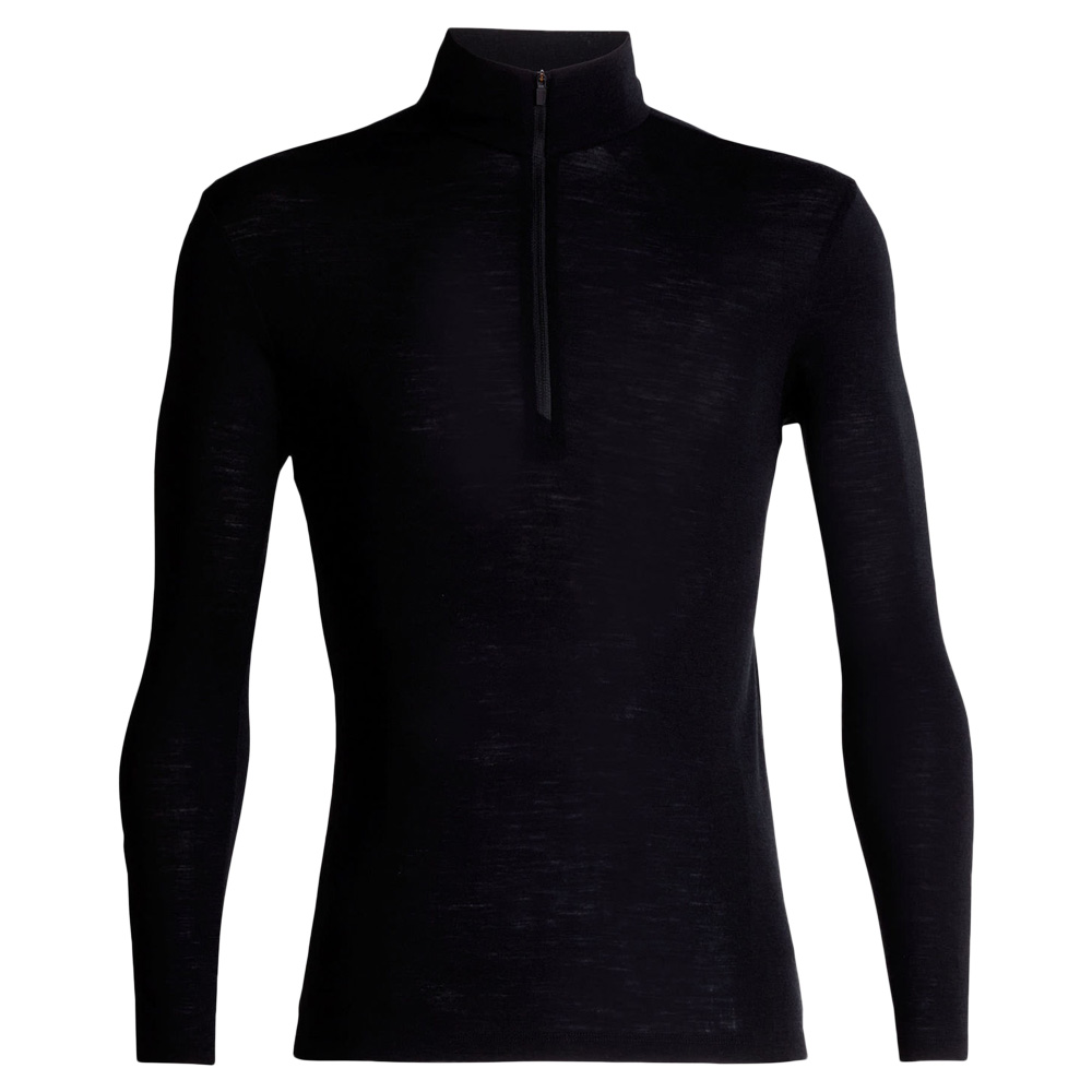 Icebreaker Long Sleeve Everyday Half Zip Merino schwarz