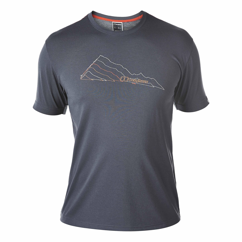 Berghaus T-Shirt Layered Mountain carbon