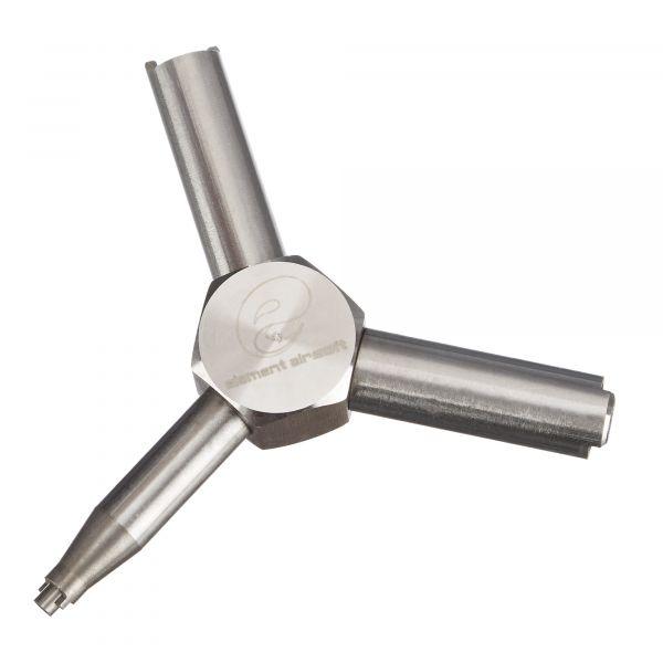 Element Airsoft Ventilschlüssel Valve Key silber