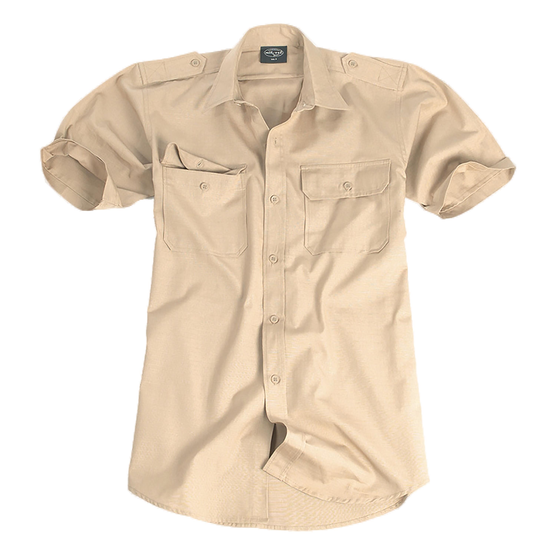 Tropenhemd Kurzarm Baumwolle khaki
