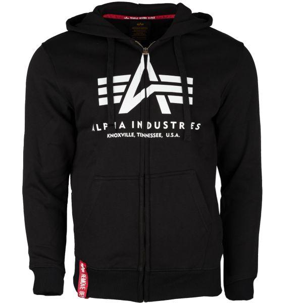 Alpha Industries Pullover Hoodie Basic Zip schwarz