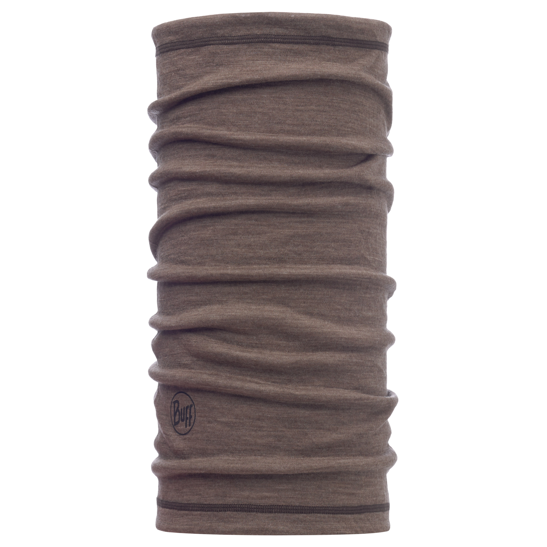 Buff Halswärmer Lightweight 3/4 Merino Wool Solid Walnut Brown