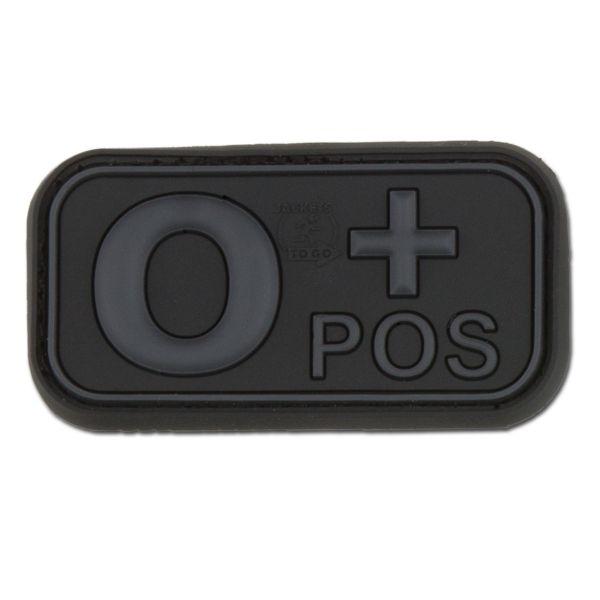 3D Blutgruppenpatch 0 Pos blackops