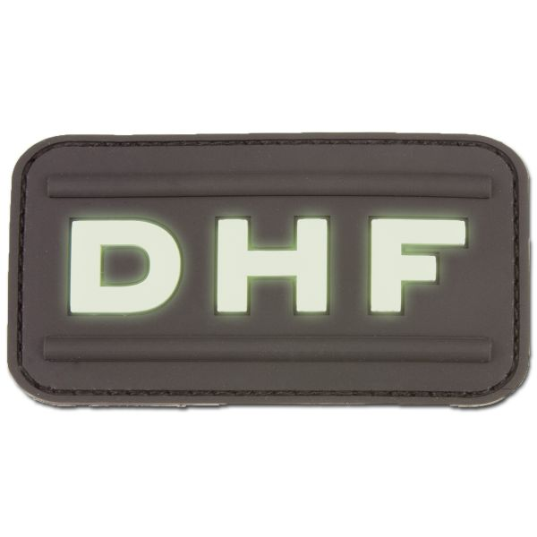 3-D Rubber Patch DHF nachleuchtend