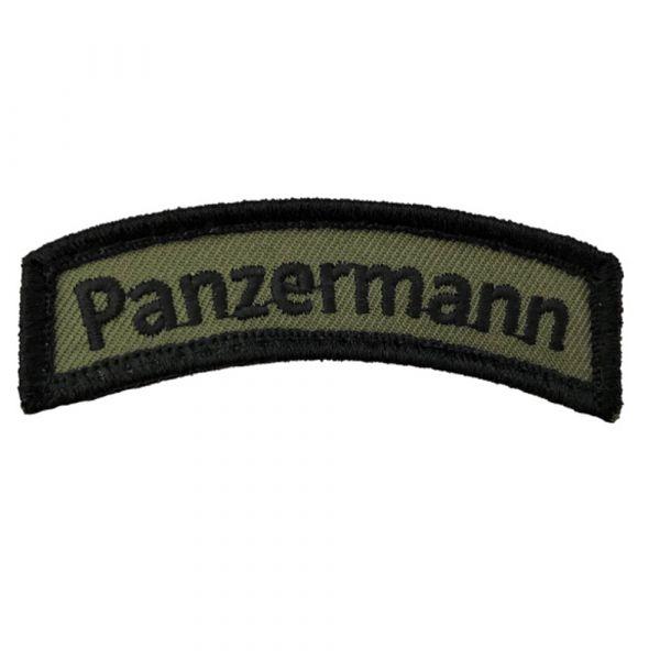 Café Viereck Patch Panzermann TAB oliv schwarz