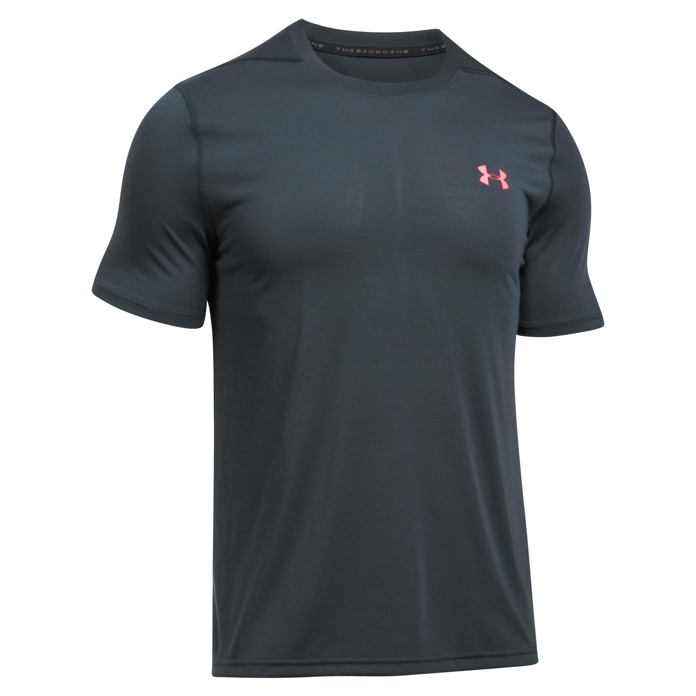 Under Armour Fitness Shirt Threadborne Fitted grau-rot II