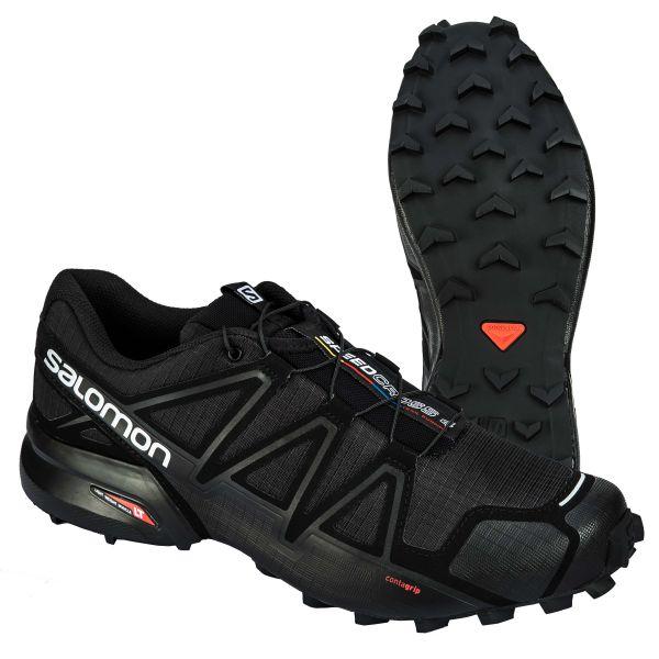 Salomon Schuhe Speedcross 4 Wide schwarz metallic