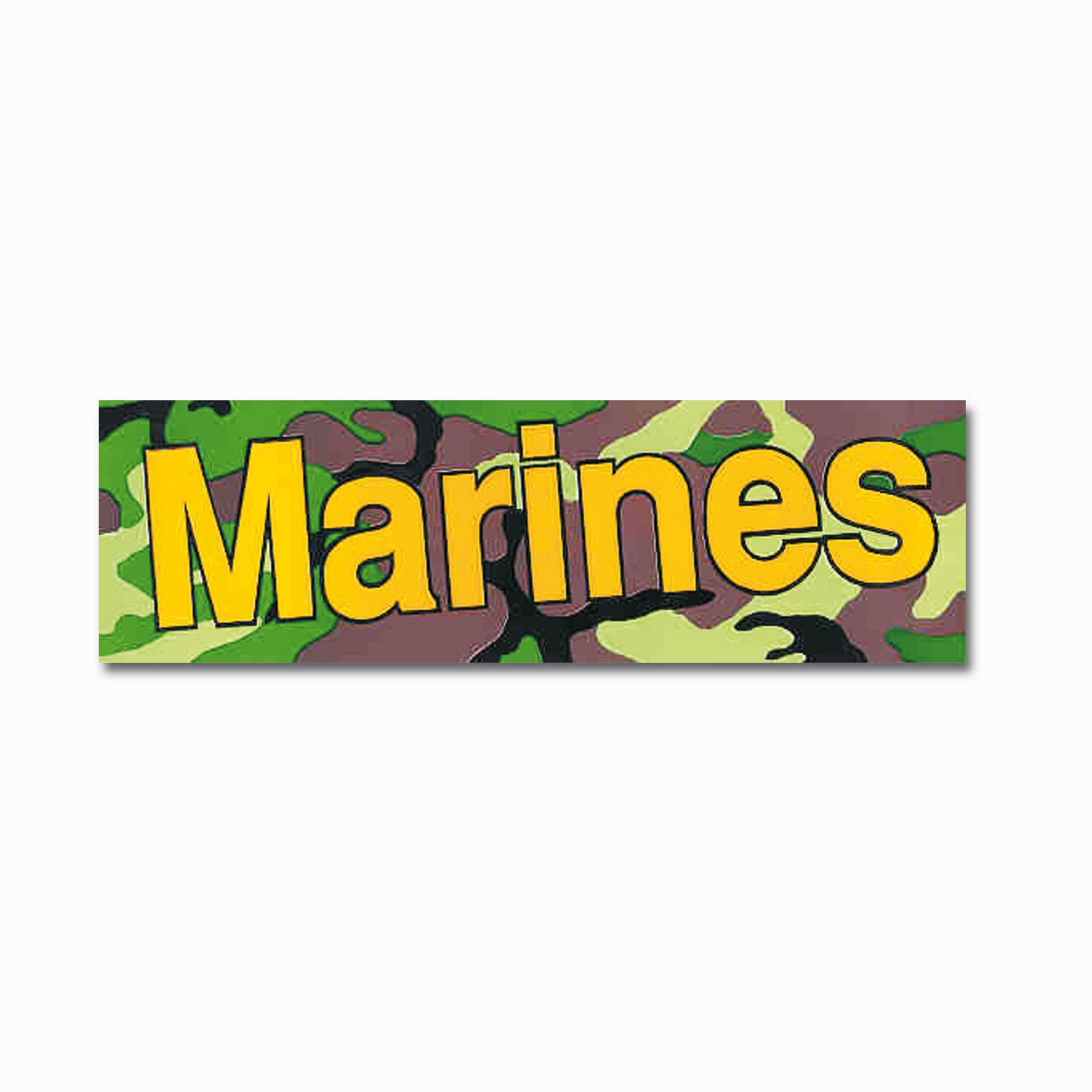 Bumper Sticker Marines woodland