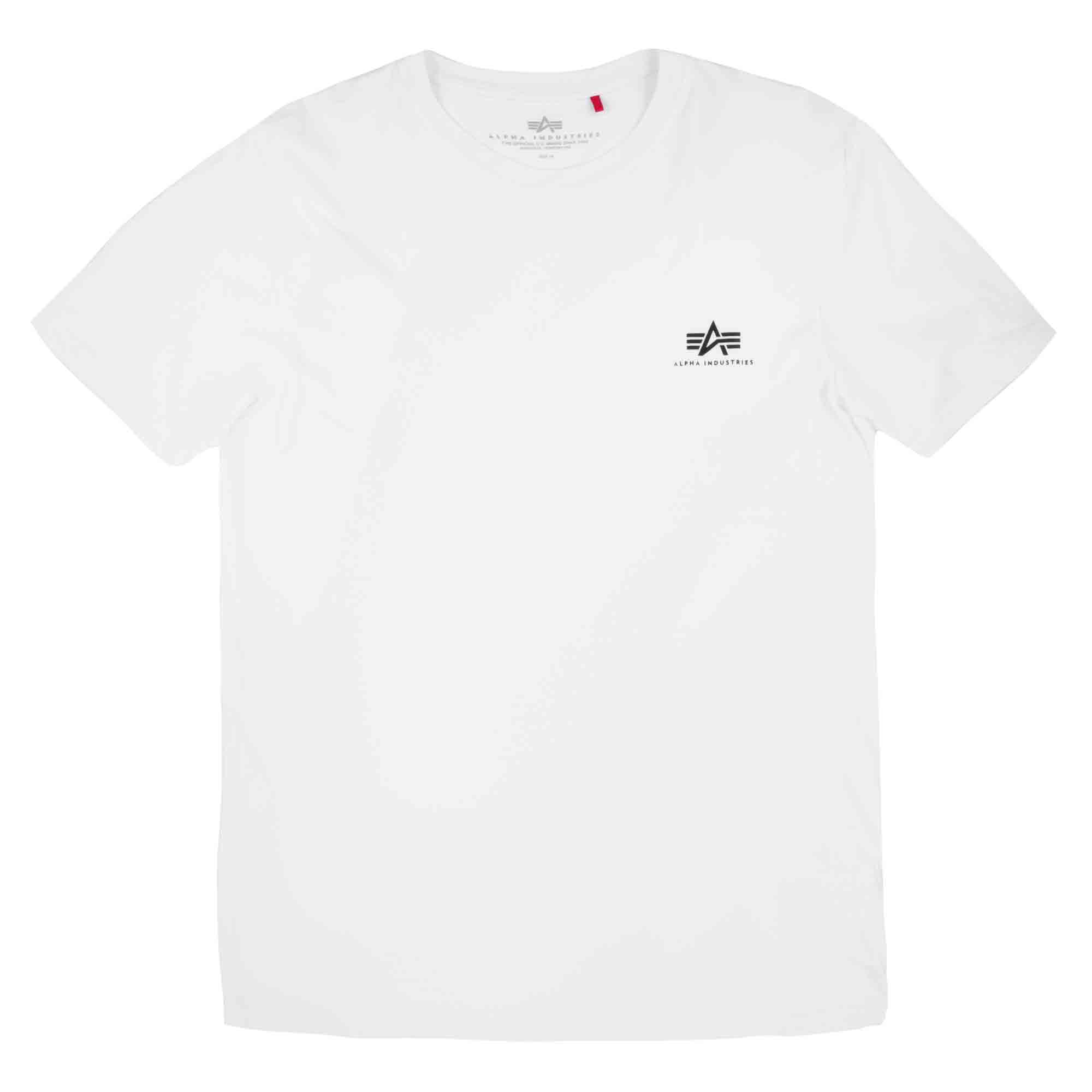 Alpha Industries T-Shirt Basic Small Logo weiß