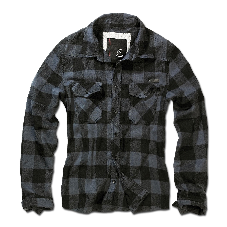 Brandit Checkshirt schwarz-grau