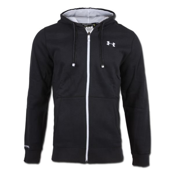 Under Armour Charged Cotton Rival Shirt Full Zip schwarz