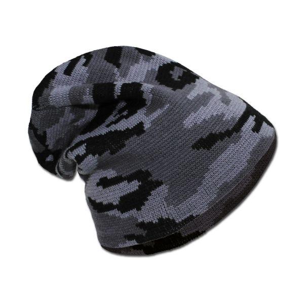 Strickmütze MFH Beanie dark camo
