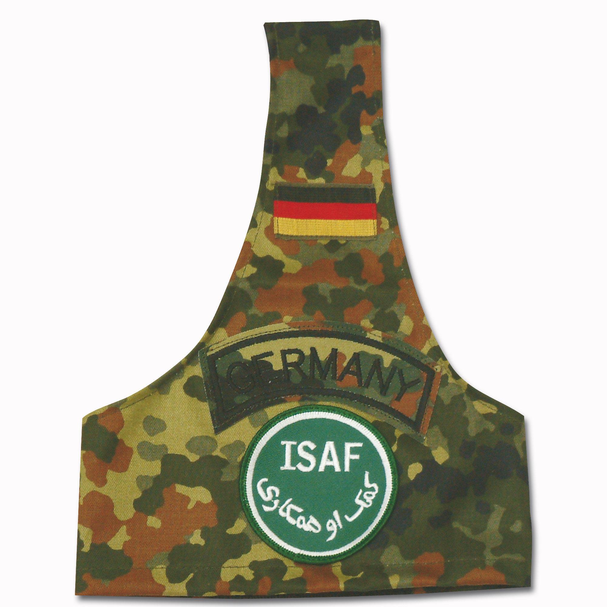 Armbinde flecktarn mit ISAF-Abzeichen