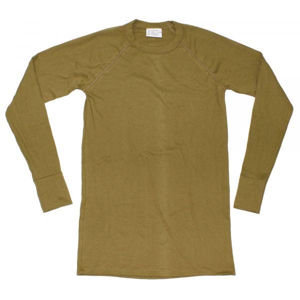 Holländisches Unterhemd Plüsch oliv neuwertig