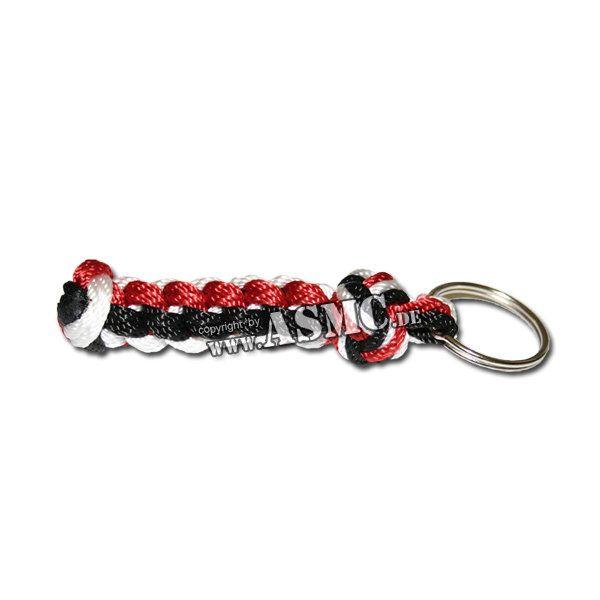Schlüsselanhänger Seemannsknoten schwarz-rot-weiss