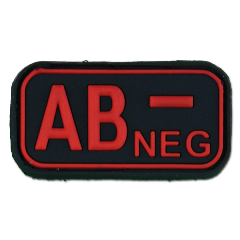 3D Blutgruppenpatch AB Neg blackmedic