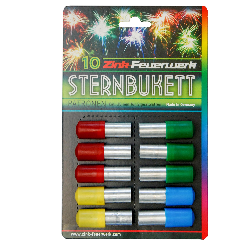 Zink Feuerwerk Sternbukettpatronen 15 mm 10 Stück