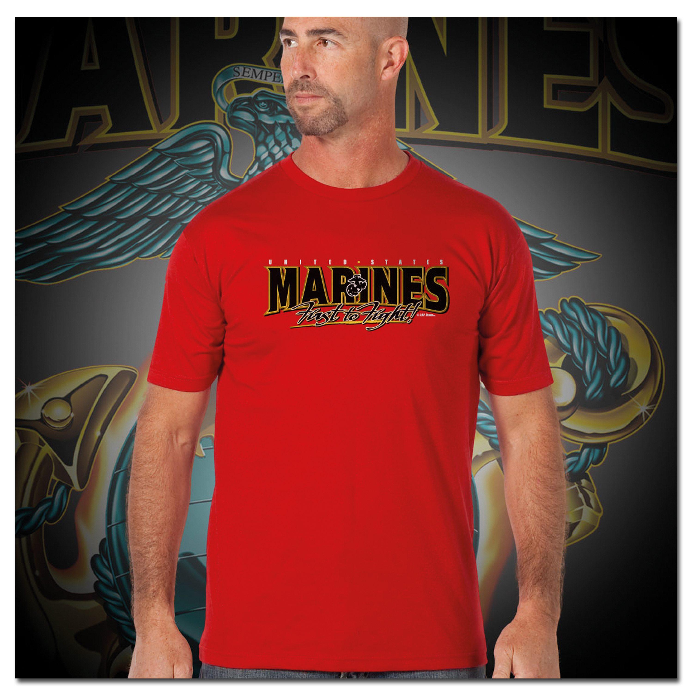 Titanen T-Shirt Marines Globe & Anchor rot