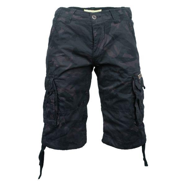 Alpha Industries Shorts Jet camo schwarz