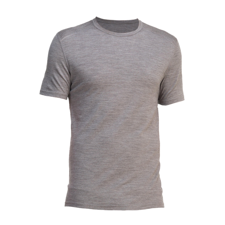 Icebreaker Merino T-Shirt Oasis kurzarm Crewe grau