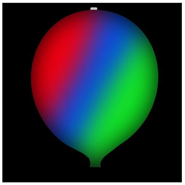 KNIXS Tac Ballon weiß Multicolor LED