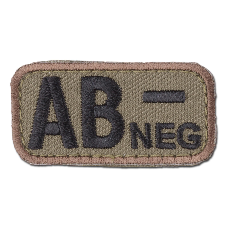 MilSpecMonkey Patch Blutgruppe AB Neg forest
