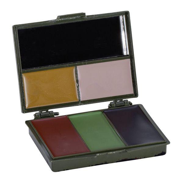 Tarnschminketui 5 Farben mit Spiegel