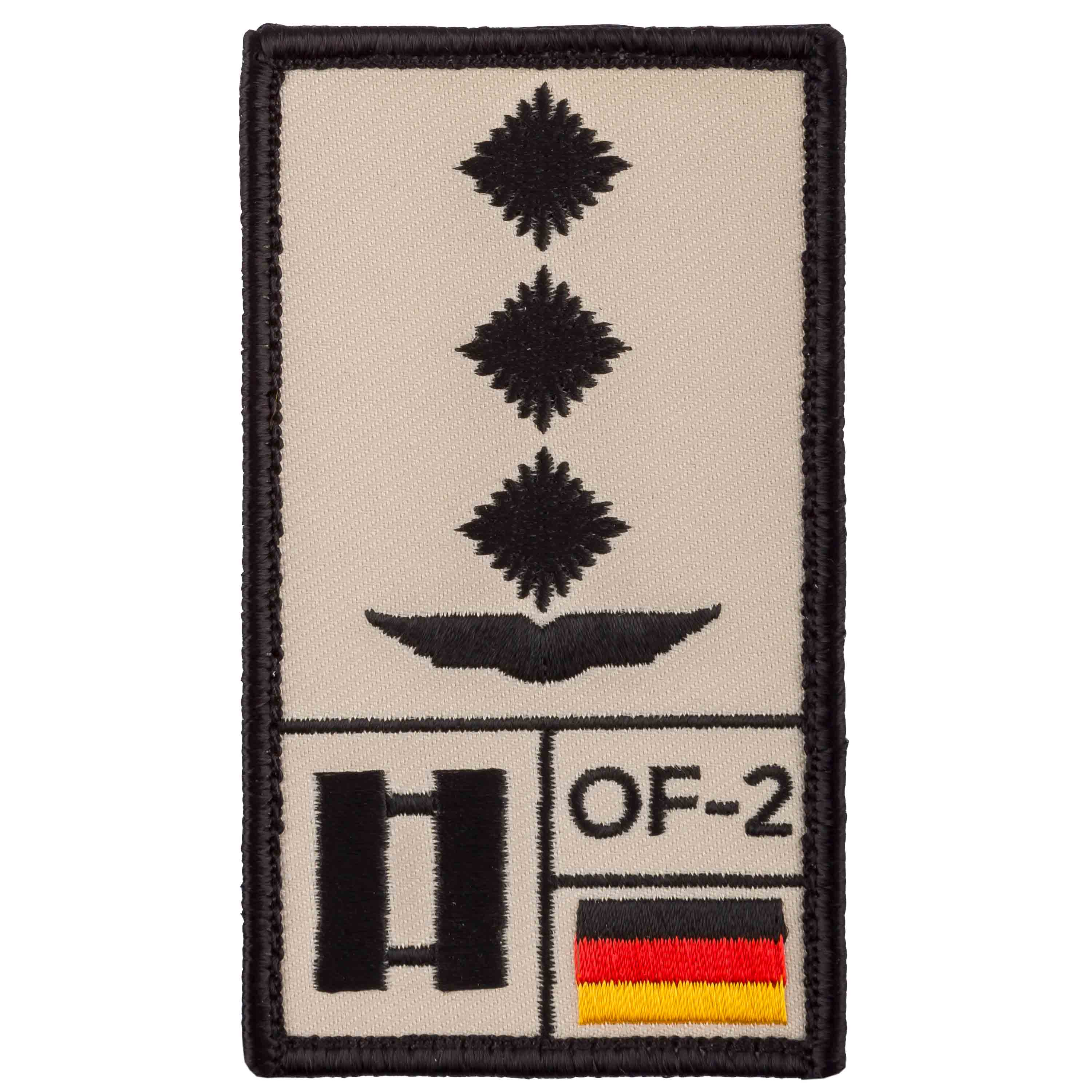 Café Viereck Rank Patch Hauptmann Luftwaffe sand