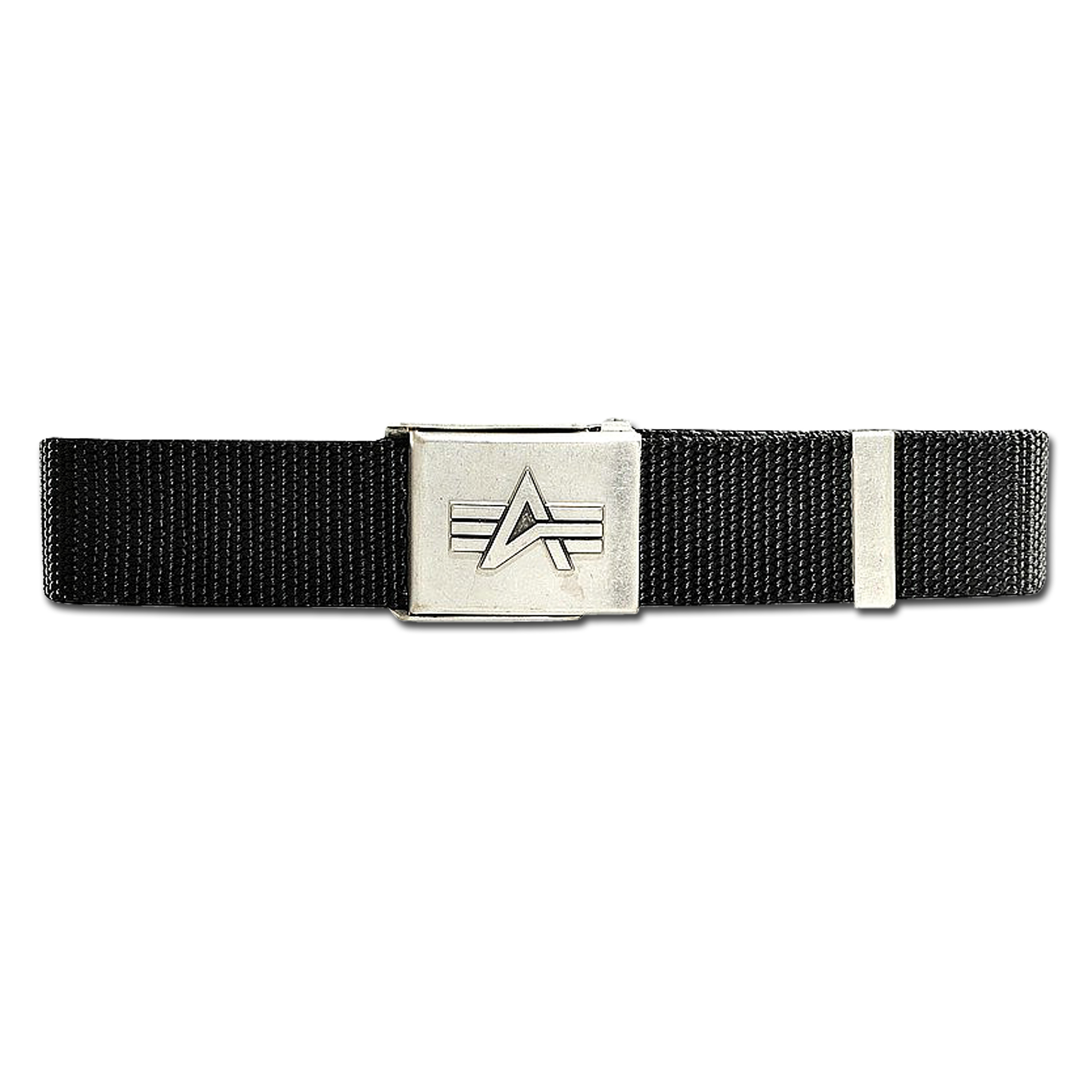Alpha Industries Hosengürtel Flap Buckle Belt schwarz