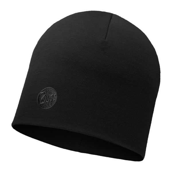 Buff Cap Merino thermal schwarz
