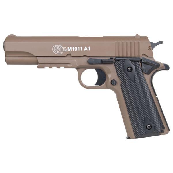 KWC Airsoft Pistole Colt 1911 A1 H.P.A. 0.5 J Federdruck tan