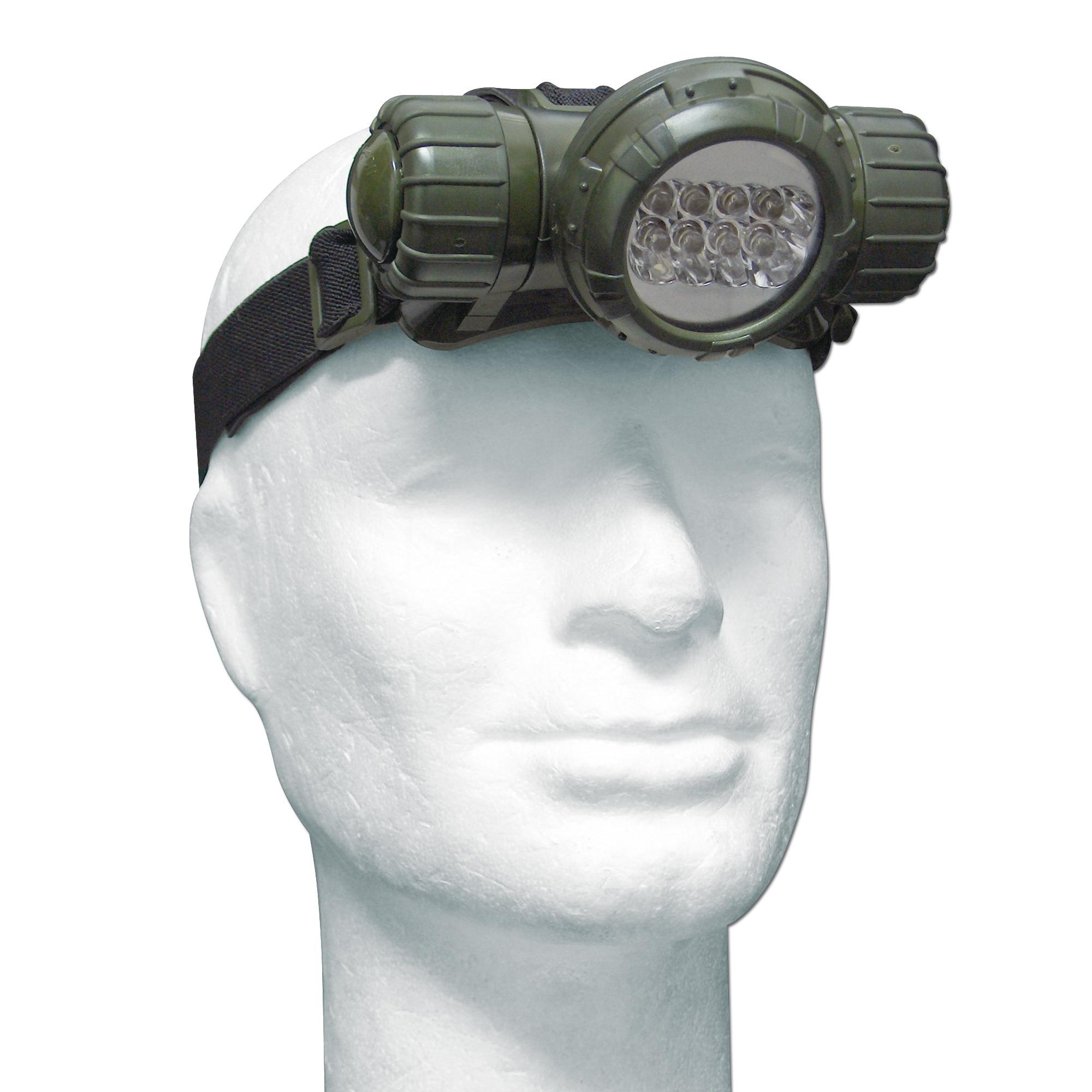 Stirnlampe Mil-Tec LED oliv