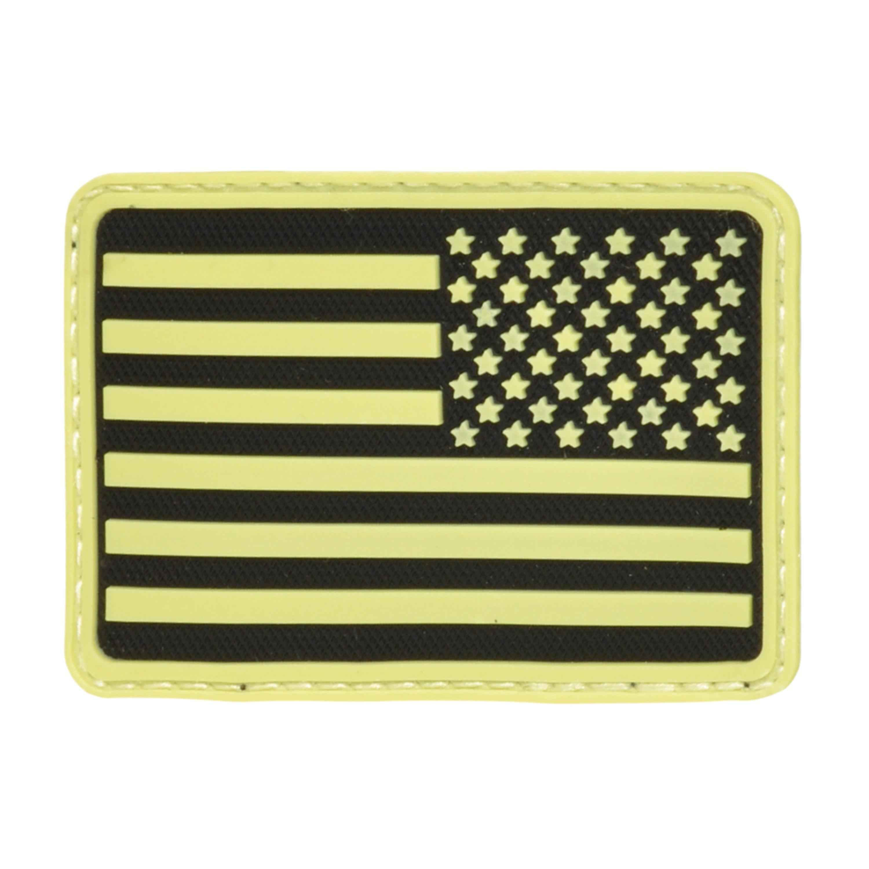 3D-Patch Hazard 4 USA Flag rechts nachleuchtend